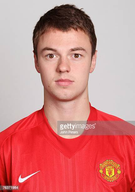 Jonny Evans of Manchester United poses during the club's annual preseason photocall at Carrington Training Ground on August 17 2007 in Manchester...