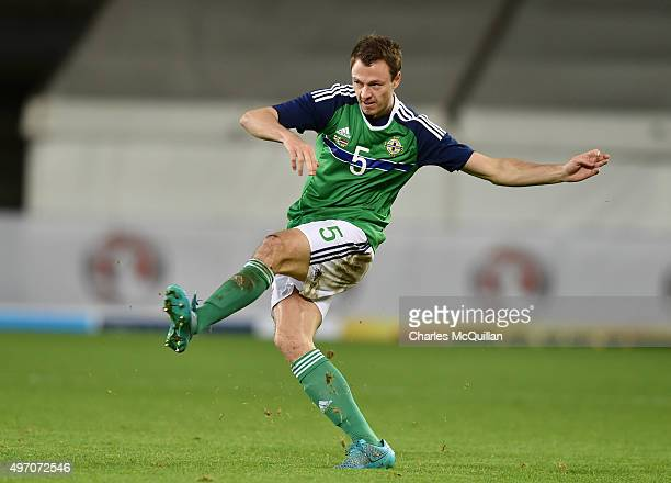 Jonny Evans of Northern Ireland pictured during the international football friendly between Northern Ireland and Latvia at Windsor Park on November...
