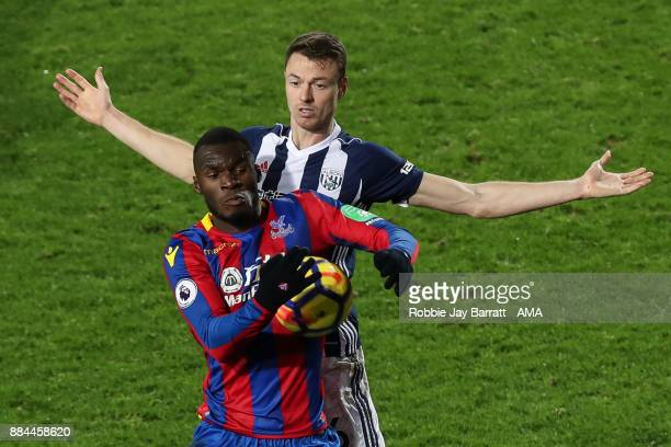 Jonny Evans of West Bromwich Albion and Christian Benteke of Crystal Palace during the Premier League match between West Bromwich Albion and Crystal...