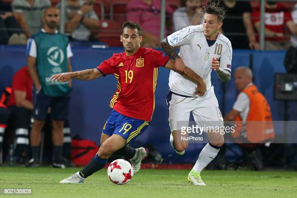 Jonny Federico Bernardeschi during the UEFA European Under21 Championship Semi Final match between Spain and Italy at Krakow Stadium on June 27 2017...
