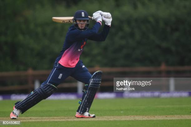 Jonny Gale of England batting during the INAS Learning Disability TriSeries Trophy Final match between England and South Africa on July 21 2017 in...