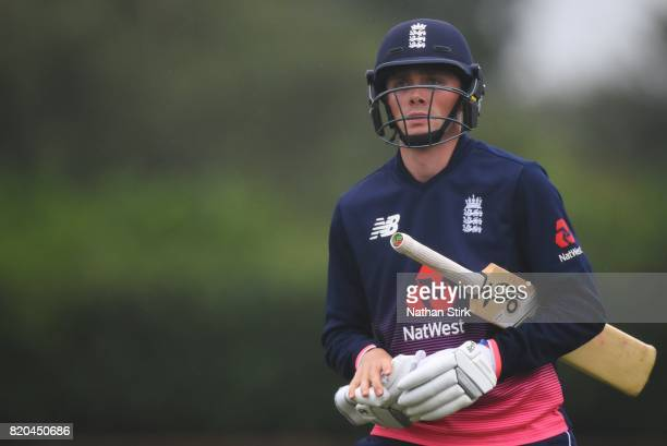 Jonny Gale of England looks on during the INAS Learning Disability TriSeries Trophy Final match between England and South Africa on July 21 2017 in...