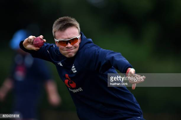 Jonny Gale of England warms up before the INAS Learning Disability TriSeries Trophy Final match between England and South Africa on July 21 2017 in...