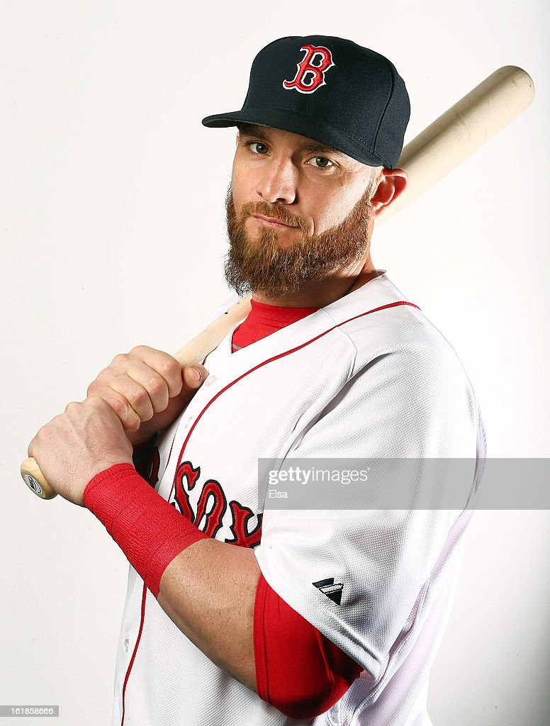 Jonny Gomes #5 of the Boston Red Sox poses for a portrait on February 17, 2013 at JetBlue Park at Fenway South in Fort Myers, Florida.