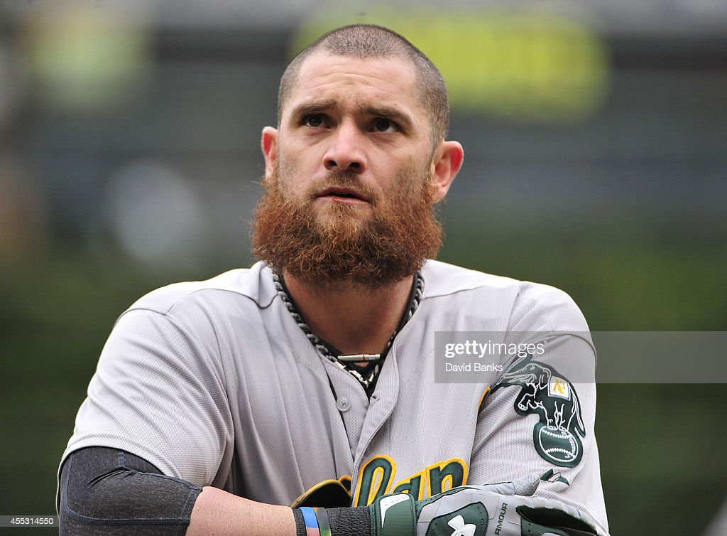 <a gi-track='captionPersonalityLinkClicked' href=/galleries/search?phrase=Jonny+Gomes&family=editorial&specificpeople=568435 ng-click='$event.stopPropagation()'>Jonny Gomes</a> #15 of the Oakland Athletics plays against the Chicago White Sox on September 11, 2014 at U.S. Cellular Field in Chicago, Illinois.