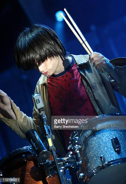Jonny Greenwood of Radiohead during 2004 Coachella Valley Music Festival Radiohead at Empire Polo Grounds in Indio California United States