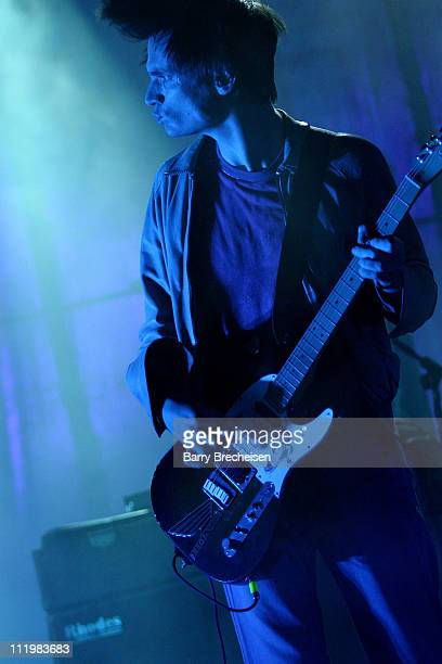 Jonny Greenwood of Radiohead during Radiohead live at the Hollywood Bowl at Hollywood Bowl in Hollywood California United States