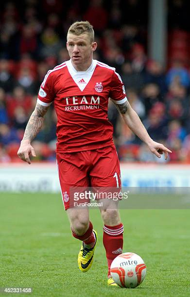 Jonny Hayes of Aberdeen FC in action during the Scottish Premiere League match between Aberdeen FC and Motherwell FC at Pittodrie Stadium on May 11...