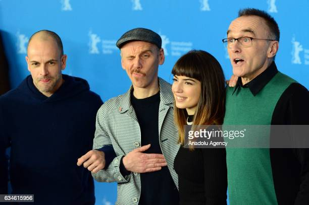 Jonny Lee Miller Ewen Bremner Anjela Nedyalkova and Director Danny Boyle attend photo call during the 67th Berlinale International Film Festival at...