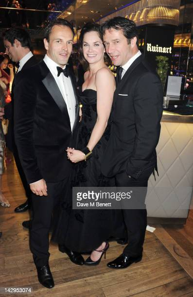 Jonny Lee Miller Ruth Wilson and James Purefoy attend an after party following the 2012 Olivier Awards held at The Royal Opera House on April 15 2012...