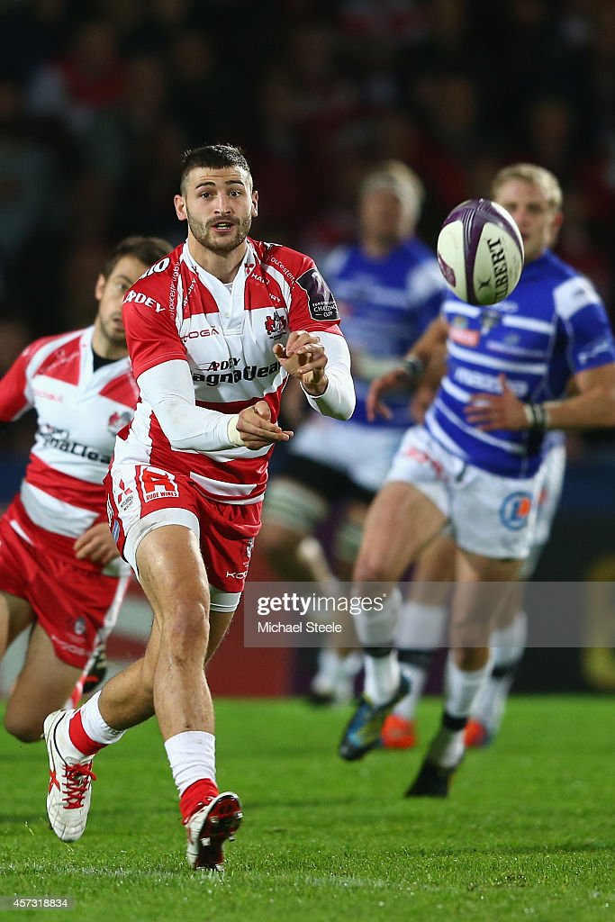 Jonny May of Gloucester during the European Rugby Challenge Cup Pool 5 match between Gloucester Rugby and Brive at Kingsholm Stadium on October 16...