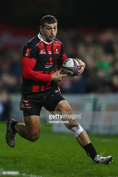 Jonny May of Gloucester during the European Rugby Challenge Cup Round Four match between Gloucester Rugby and Worcester Warriors at Kingsholm Stadium...
