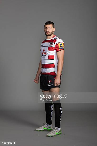 Jonny May of Gloucester poses for a picture during the Gloucester Rugby Photocall at Hartpury College on October 29 2015 in Hartpury England