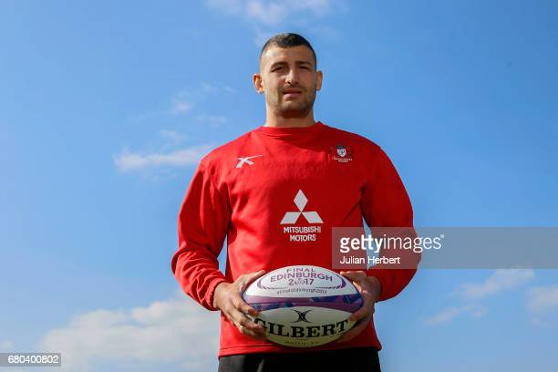 Jonny May of Gloucester Rugby Club poses for a portrait after taking part in a training session at Hartpury College on May 8 2017 in Gloucester...