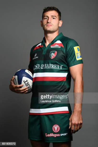 Jonny May of Leicester Tigers poses for a portrait during the squad photo call for the 20172018 Aviva Premiership Rugby season at Welford Road on...