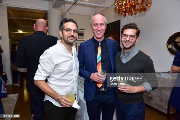 Jonny Michaud Tom Faulkner and Paolo Andrade attend Tom Faulkner at Angela Brown Ltd on October 18 2017 in New York City