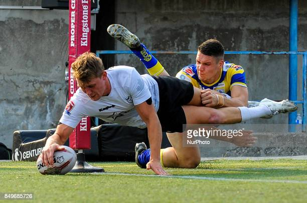 Jonny Pownall of Toronto Wolfpack scored tries during the Super 8s Round 7 game between Toronto Wolfpack vs Doncaster RLFC at Allan A Lamport Stadium...