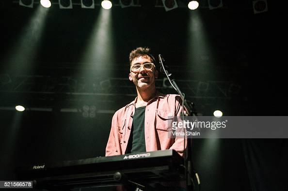 Jonny Sanders of Teleman performs at KOKO on April 14 2016 in London England