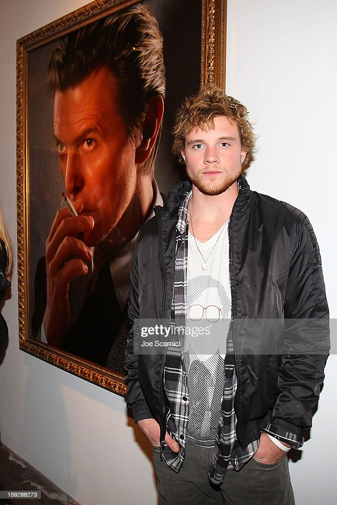 Jonny Weston attends Markus + Indrani Icons book launch party hosted by Carmen Electra benefiting The Trevor Project at Merry Karnowsky Gallery & Graffiti on January 10, 2013 in Los Angeles, California.