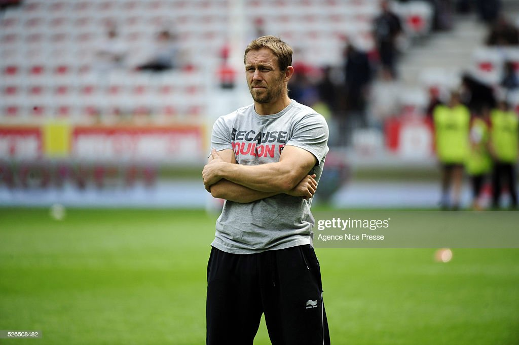 Jonny WILKINSON during the French Top 14 rugby union match between RC Toulon and Stade Toulousain ( Toulouse ) at Allianz Riviera on April 30, 2016 in Nice, France.