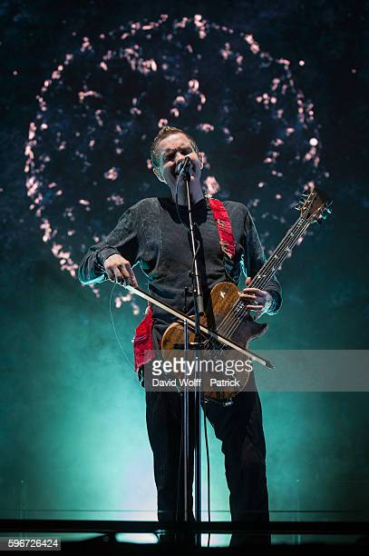 Jonsi Birgisson from Sigur Ros performs at Rock en Seine on August 27 2016 in Paris France