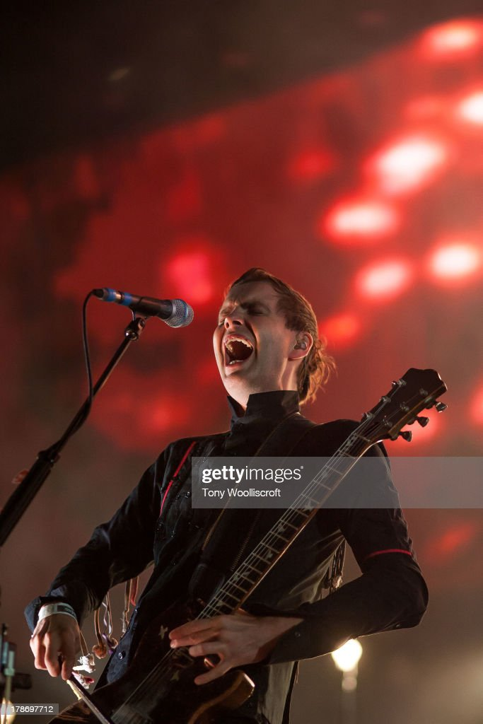 Jonsi Birgisson of Sigur Ros performs at Jodrell Bank on August 30, 2013 in Manchester, England.