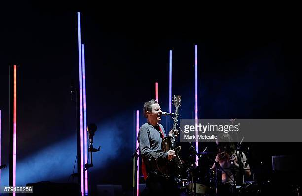 Jonsi Birgisson of Sigur Ros performs during Splendour in the Grass 2016 on July 24 2016 in Byron Bay Australia