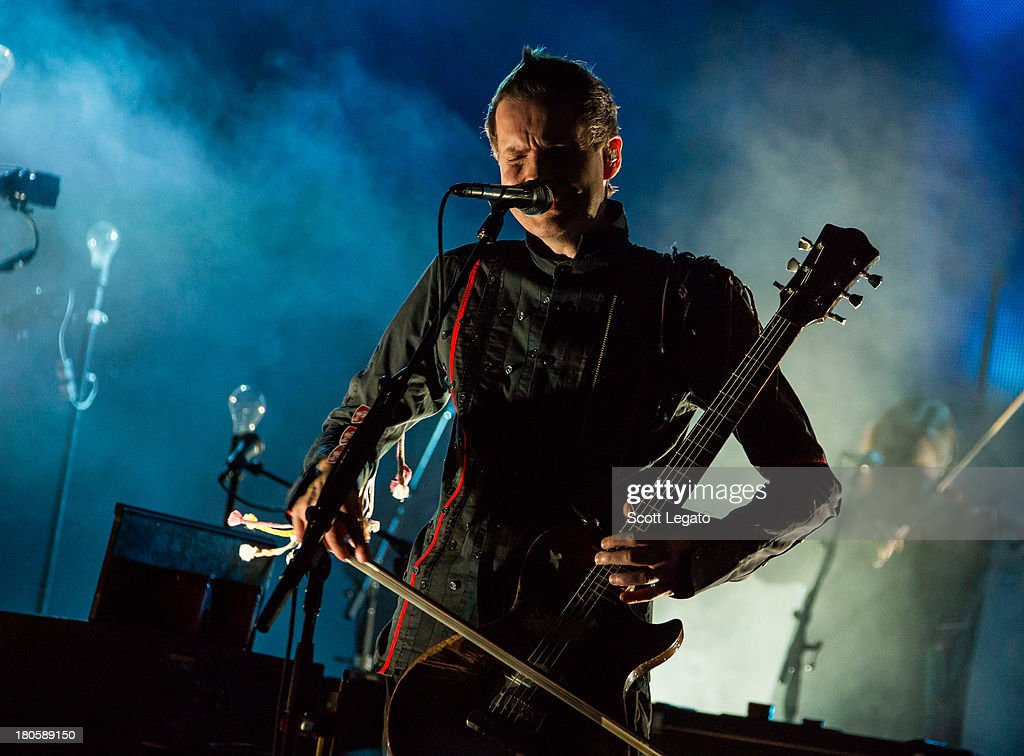 Jonsi Birgisson of Sigur Ros performs during the St Jerome's Laneway Festival at Meadow Brook Music Festival on September 14, 2013 in Rochester, Michigan.