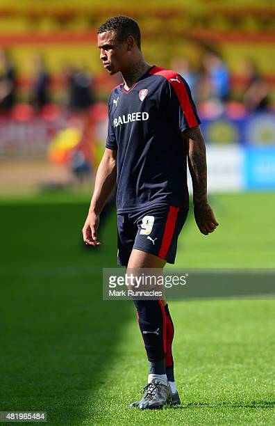 Jonson ClarkeHarris of Rotherham in action during a pre season friendly match between Patrick Thistle FC and Rotherham United at Firhill Stadium on...