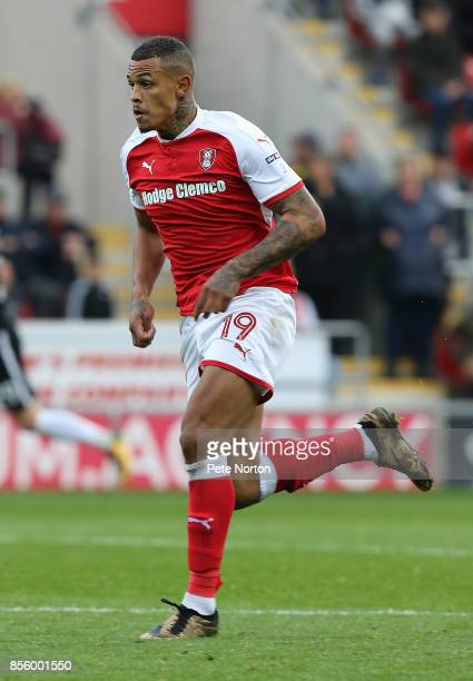 Jonson ClarkeHarris of Rotherham United in action during the Sky Bet League One match between Rotherham United and Northampton Town at The Aesseal...