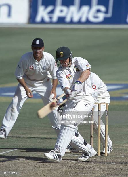 Jonty Rhodes batting for South Africa during his innings of 57 not out in the 2nd Test match between South Africa and England at St George's Park...