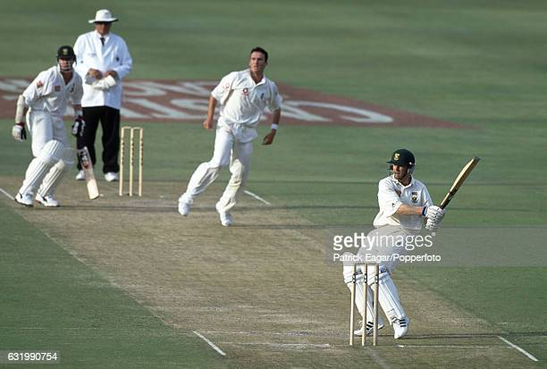 Jonty Rhodes batting for South Africa during the 1st Test match between South Africa and England at the New Wanderers Stadium Johannesburg South...