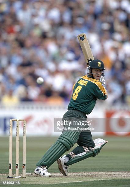 Jonty Rhodes batting for South Africa during the Emirates Triangular Tournament One Day International between England and South Africa at Edgbaston...