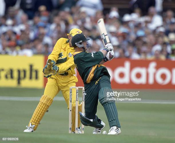 Jonty Rhodes batting for South Africa during the World Cup Super Six match between Australia and South Africa at Headingley Leeds 13th June 1999 The...