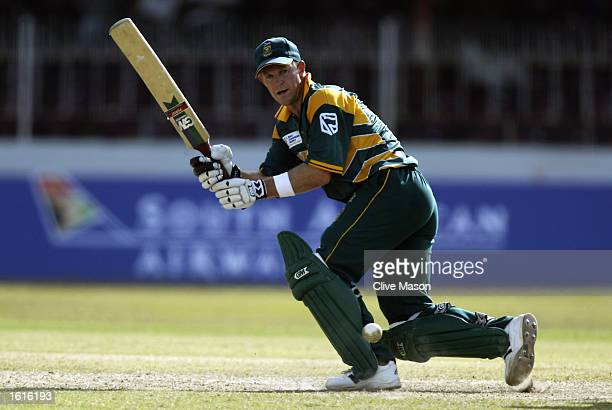 Jonty Rhodes of South Africa in action during the ICC Champions Trophy match between South Africa and West Indies held on September 13 2002 at the...