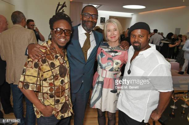 Jonzi D Sir Lenny Henry Justine Simons and Ben Okri attend the Mayor of London's Summer Culture Reception on July 18 2017 in London England