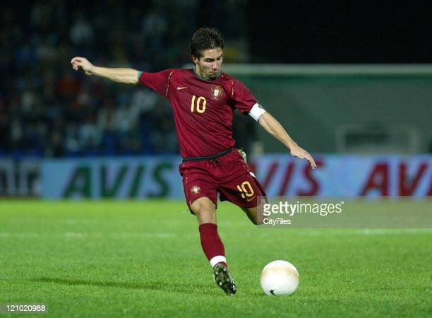 João Moutinho during the Under 21 Championship Playoffs between Portugal and Russia in Porto Portugal on October 10 2006