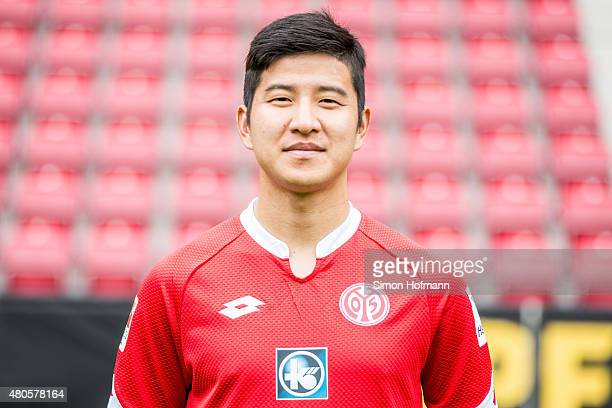 JooHo Park poses during the 1 FSV Mainz 05 Team Presentation at Coface Arena on July 12 2015 in Mainz Germany