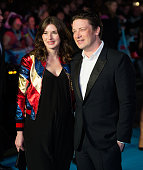Jools Oliver and Jamie Olive arrrive for the European premiere of 'Eddie The Eagle' at Odeon Leicester Square on March 17 2016 in London England