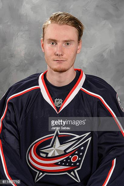 Joonas Korpisalo of the Columbus Blue Jackets poses for his official headshot for the 201617 season on September 22 2016 at Nationwide Arena in...