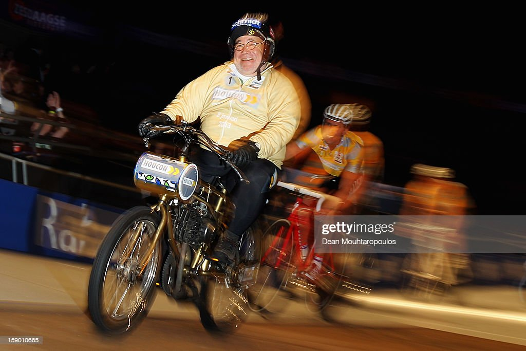 Joop Zijlaard of Netherlands, a pacesetter for track cycling retired and competes in his last race during the Rotterdam 6 Day Cycling at Ahoy Rotterdam on January 4, 2013 in Rotterdam, Netherlands.