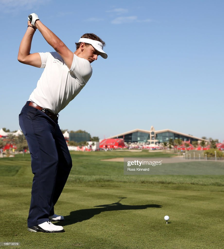 Joost Luiten of The Netherlands during the third round of the Abu Dhabi HSBC Golf Championship at the Abu Dhabi Golf Club on January 19, 2013 in Abu Dhabi, United Arab Emirates.