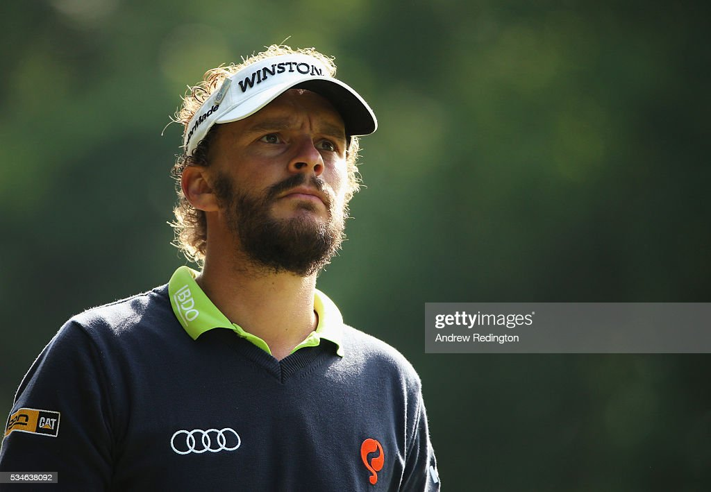 Joost Luiten of the Netherlands looks on during day two of the BMW PGA Championship at Wentworth on May 27, 2016 in Virginia Water, England.