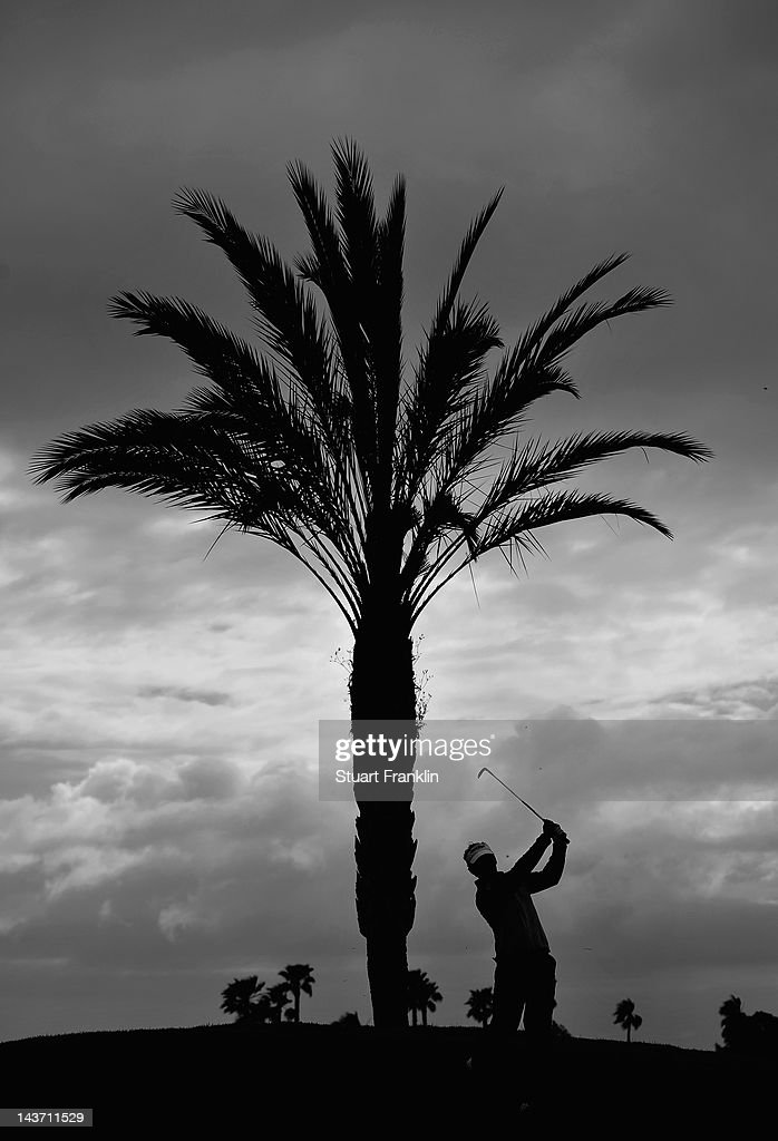 Joost Luiten of The Netherlands plays a shot during the first round of the Open de Espana at Real Club de Golf de Sevilla on May 3 2012 in Seville...