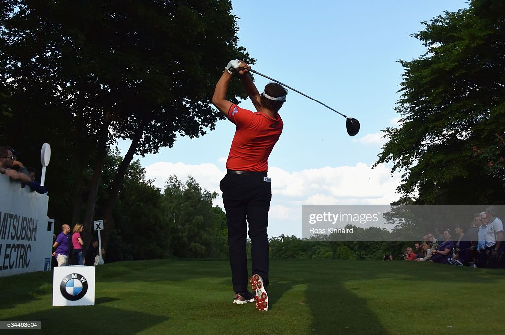 <a gi-track='captionPersonalityLinkClicked' href=/galleries/search?phrase=Joost+Luiten&family=editorial&specificpeople=669937 ng-click='$event.stopPropagation()'>Joost Luiten</a> of the Netherlands tees off on the 17th hole during day one of the BMW PGA Championship at Wentworth on May 26, 2016 in Virginia Water, England.