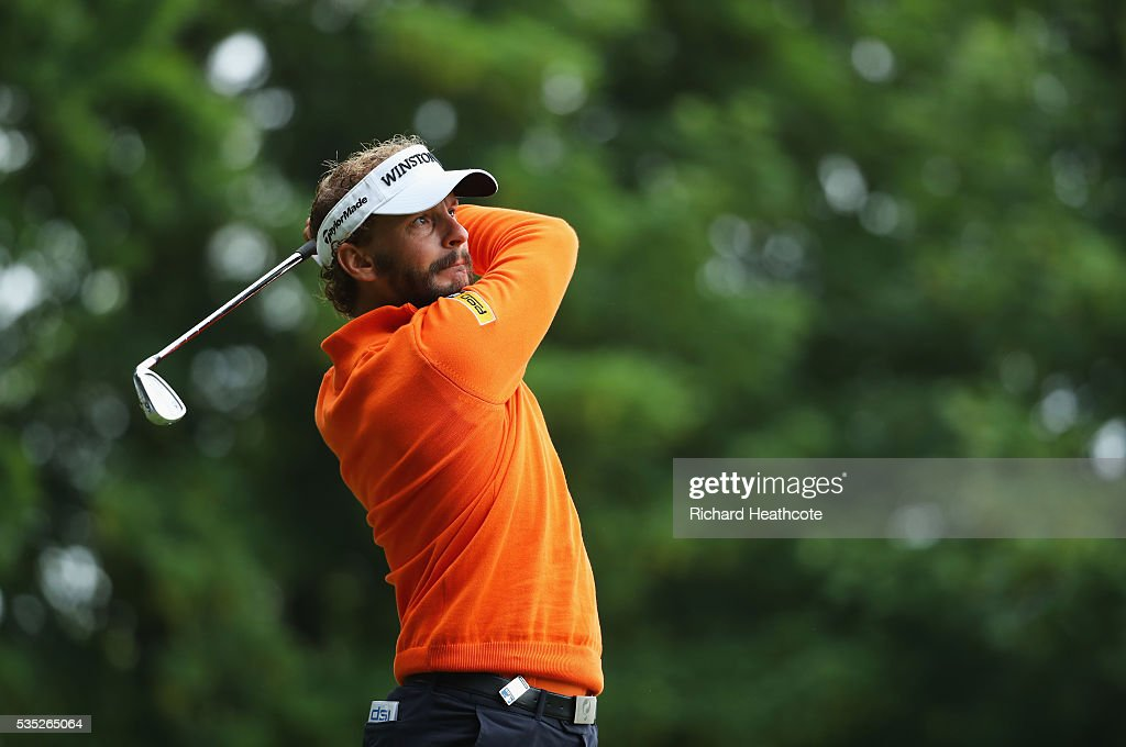 <a gi-track='captionPersonalityLinkClicked' href=/galleries/search?phrase=Joost+Luiten&family=editorial&specificpeople=669937 ng-click='$event.stopPropagation()'>Joost Luiten</a> of the Netherlands tees off on the 2nd hole during day four of the BMW PGA Championship at Wentworth on May 29, 2016 in Virginia Water, England.