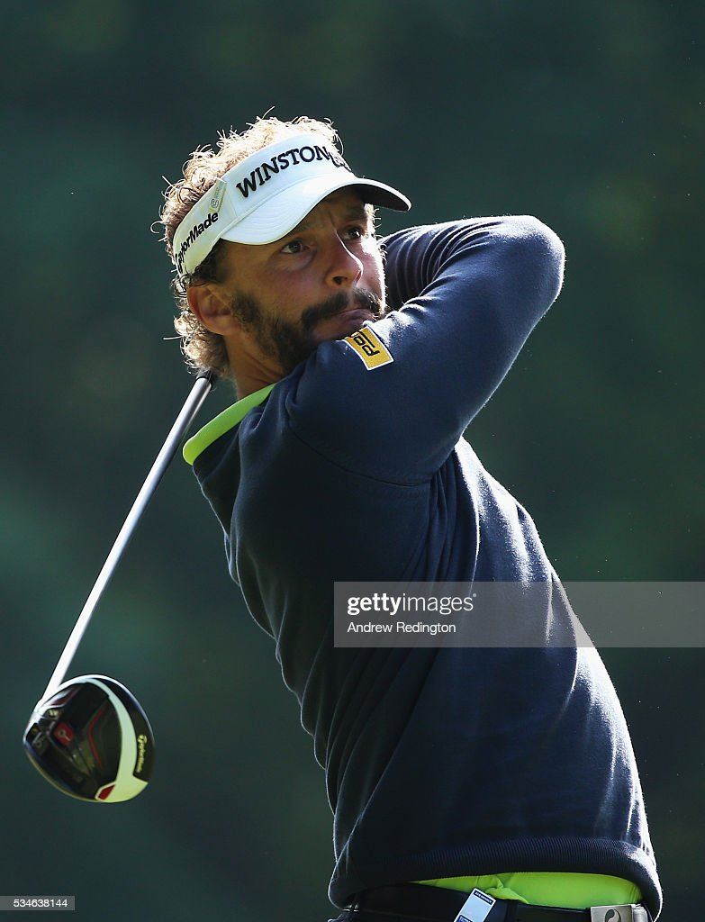 <a gi-track='captionPersonalityLinkClicked' href=/galleries/search?phrase=Joost+Luiten&family=editorial&specificpeople=669937 ng-click='$event.stopPropagation()'>Joost Luiten</a> of the Netherlands tees off on the 3rd hole during day two of the BMW PGA Championship at Wentworth on May 27, 2016 in Virginia Water, England.