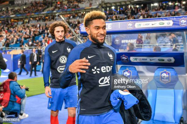 Jordan Amavi and Adrien Rabiot of France during the Fifa 2018 World Cup qualifying match between France and Belarus on October 10 2017 in Paris France