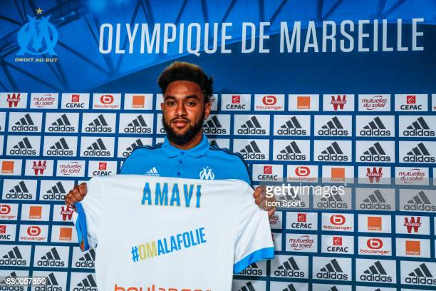 Jordan Amavi new player of Marseille during press conference of Olympique de Marseille on August 10 2017 in Marseille France
