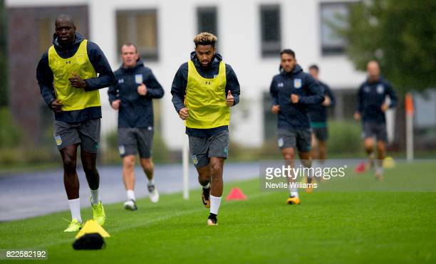 Jordan Amavi of Aston Villa during an Aston Villa training session at the club's training camp at Guetersloh on July 25 2017 in Guetersloh Germany